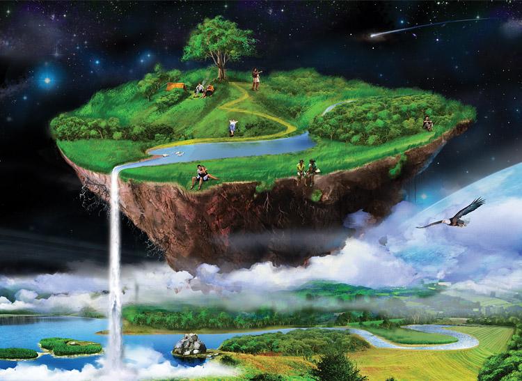 Ile Volante projet drafernya: l'île dans le ciel sur le forum minecraft - 17-03